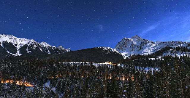 Mt Shuksan and North Cascades in Winter ( Mt Baker NF, WA)