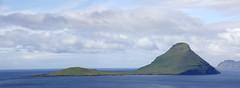 The island Koltur seen from Velbastaður, Faroe Islands