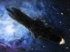 Туманность корабли звезды космос