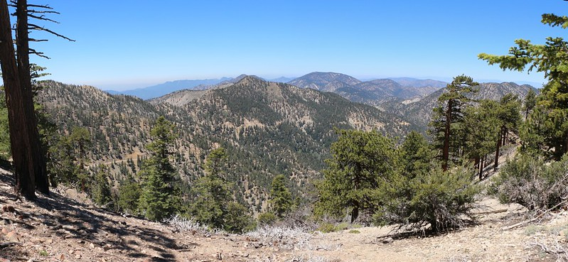 View west to Mount Islip from the Dawson Saddle Trail.