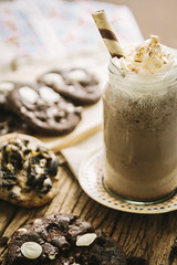 Cookie with milk shake
