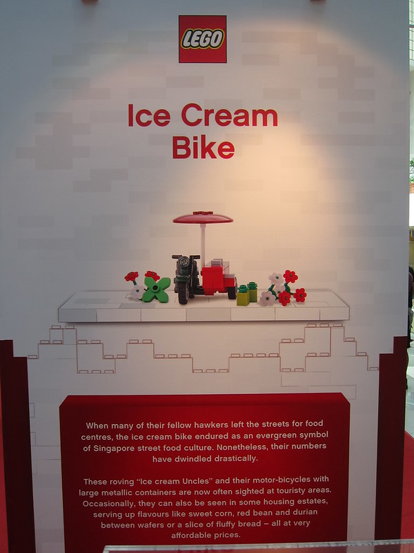 LEGO SG50 Limited Edition Singapore Icons Mini Build - Ice Cream Bike - Poster