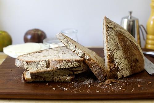 masterful bread slicing skills