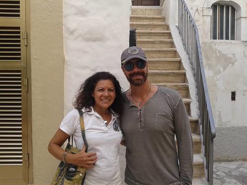 Maria L'Abbate e il popolare attore Raul Bova