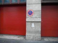 garage door, red, facade,