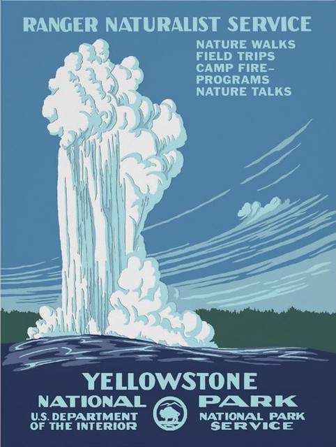 WPA Poster, Ranger Naturalist Service, Yellowstone national Park, Wyoming