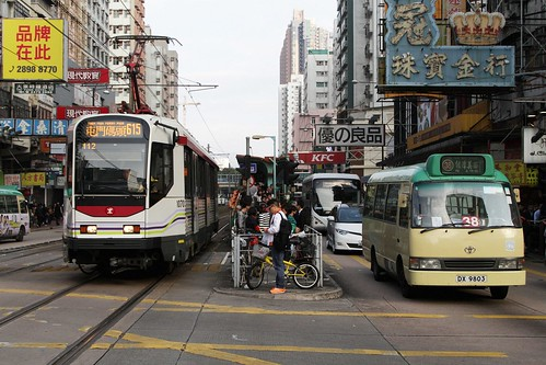 MTR Phase I LRV 1070 on route 615 in Yuen Long