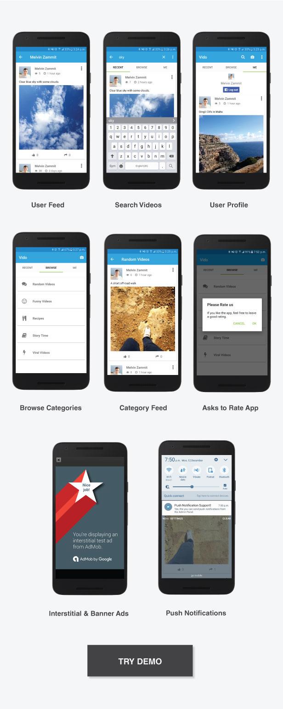 Vido Video Social Media App Template By Neurondigital Codecanyon