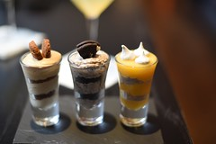 Peanut butter Parfait, Oreo cheese Cake, Lemon Parfait