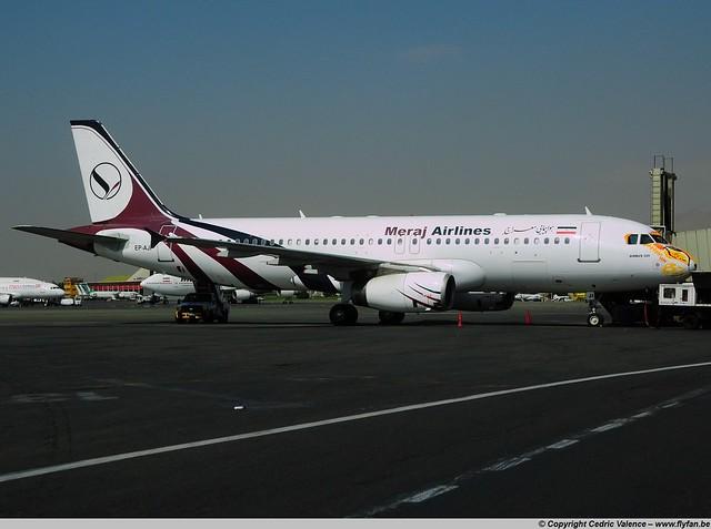 EP-AJI - A320-233 Meraj Airlines - THR 05-10-2015