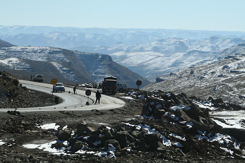 Road work in Lesotho