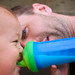 Father, son and sippy cup