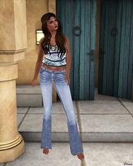 Lapointe & Bastchild - SWear Flare Denim Jeans with Belt-1