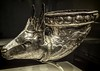 Wine horn with gazelle protome Iran Sasanian Period 4th century CE Silver and Gilt