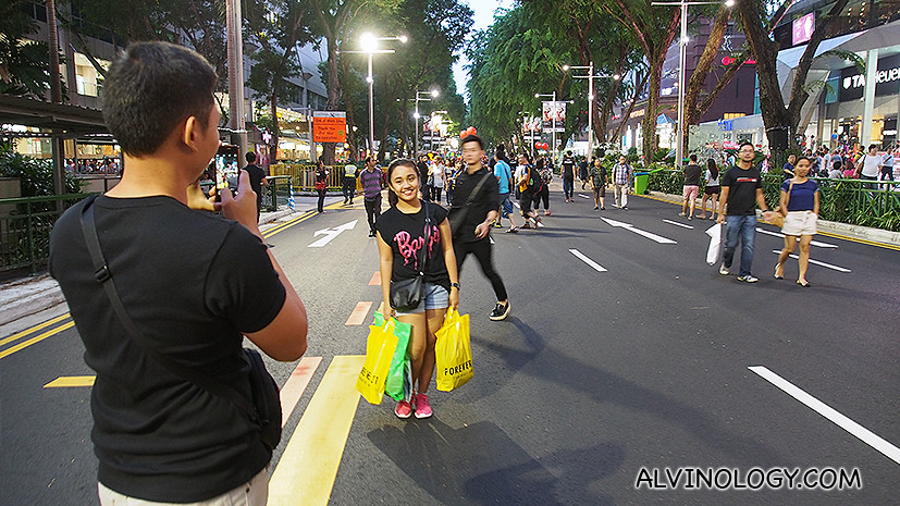 Take selfies and photos along the vehicular road
