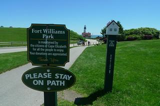 Maine - Portland Head Light Fort Williams Park