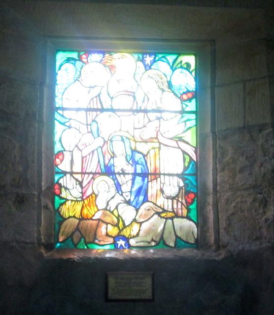 St  Fillan's kirk interior glass
