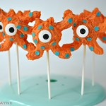 Orange monster cake pops