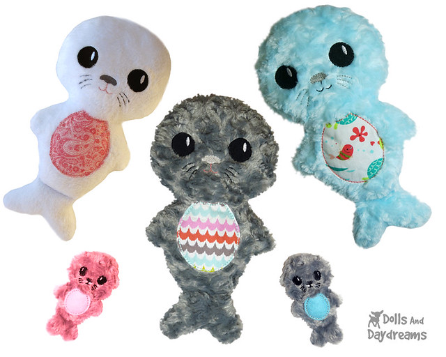 Seal Pup ITH Stuffie Pattern