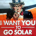 Uncle Sam aggressively promotes solar energy in Los Angeles by Gilbert Mercier