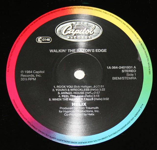 "HELIX WALKIN' THE RAZOR'S BLADE 12"" LP"