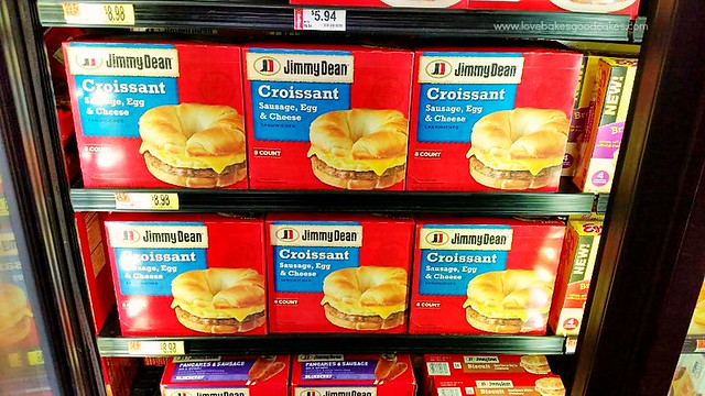 Jimmy Dean Croissant products on the store shelf.