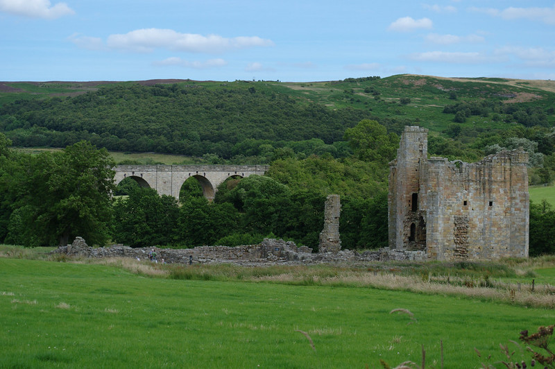Edlingham Viaduct and castle