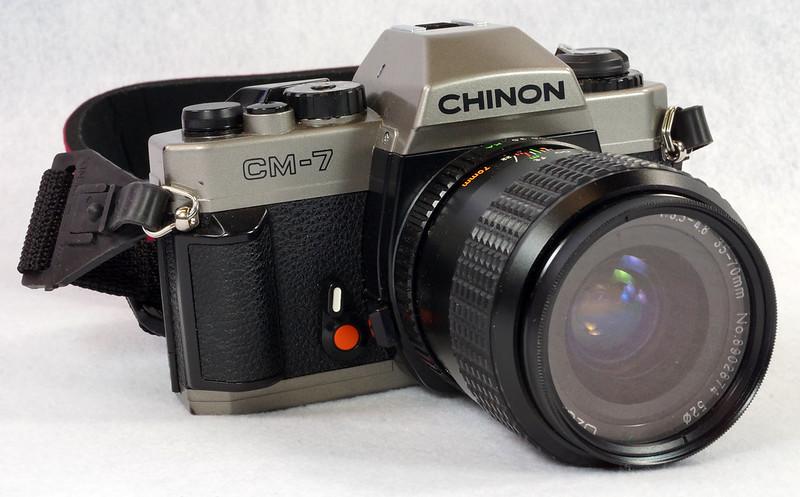 RD14976 Chinon CM-7 35mm SLR Film Camera, 50mm Ozunon Lens, Manuals & Coastar Case DSC07823