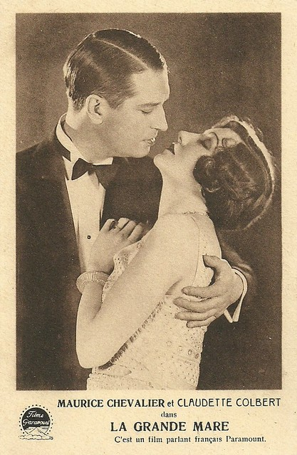 Maurice Chevalier and Claudette Colbert in La Mare