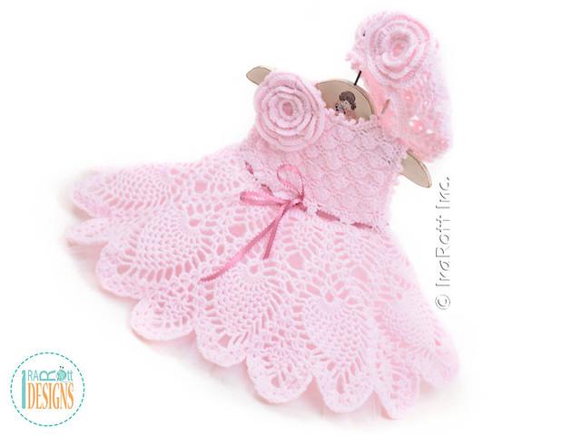 Ivory Dream Christening Gown Crochet Pattern by IraRott ...