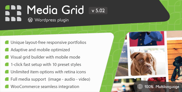 Media Grid v5.041 – WordPress Responsive Portfolio