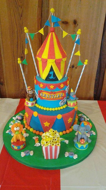 Circus Cake by Christina Marie of Sinful & Delicious Cupcakes