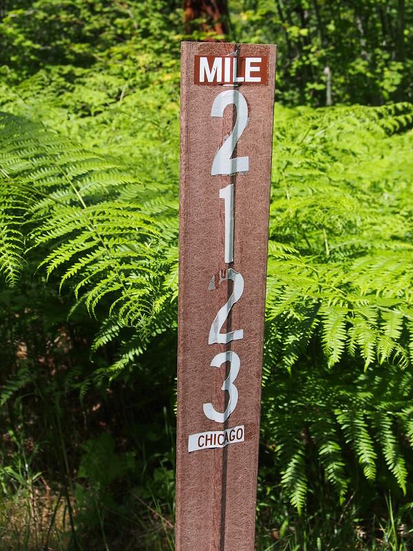 Milwaukee Road Milepoist: 2123 miles to Chicago!