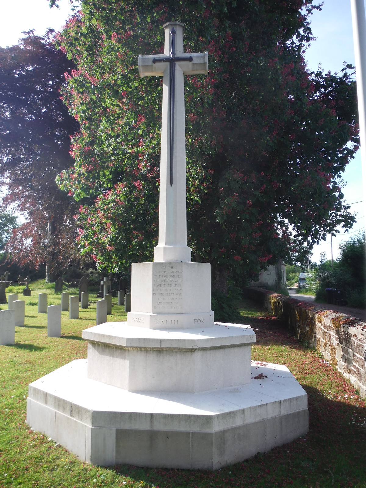 WWI graves and War Memorial at Fovant Church SWC Walk 249 Tisbury Circular via Dinton and Fovant