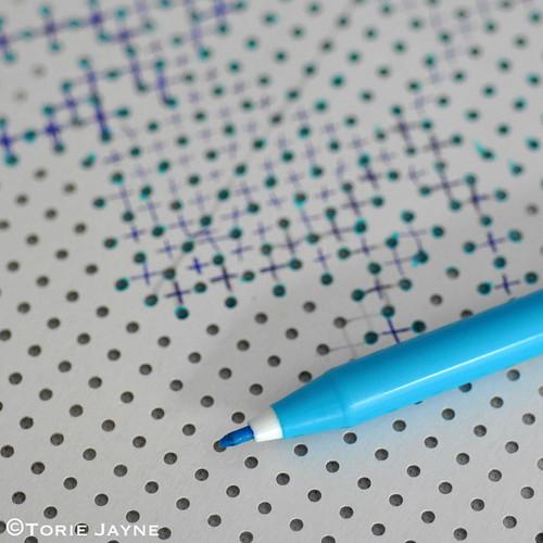 Marking out cross stitch pattern
