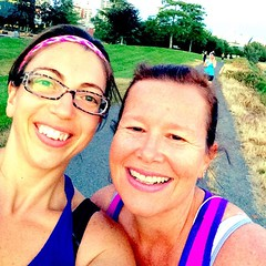 Awesome first run with @nzchrissy tonight! So lucky to have so many wonderful running buddies!