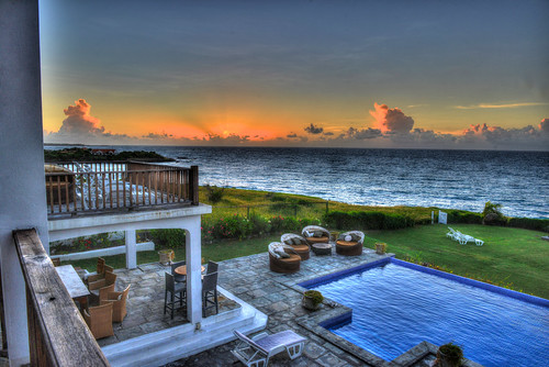 ocean vacation pool sunrise sailing grenada villa hdr oceansunrise