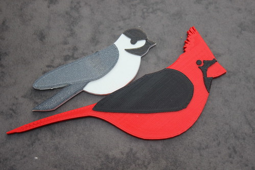 3D Printed Birds - Chickadee Has a Pal