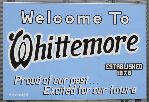 Welcome to Whittemore Sign (Whittemore, Iowa)