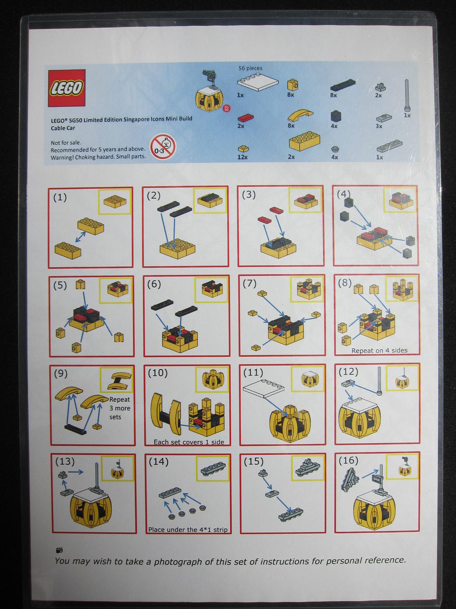LEGO Singapore Cable Car SG50 PDF Instructions LDD Files