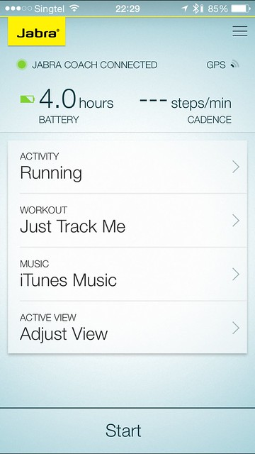 Jabra Sport iOS App - Home