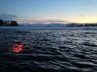 Winter swimming in Joensuu
