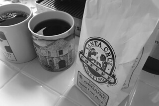 Santa Cruz Coffee Roasting - Santa Cruz dark bag bw by roland luistro, on Flickr