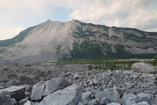Turtle mountain Alberta Canada Site of the Frank slide disaster in 1904