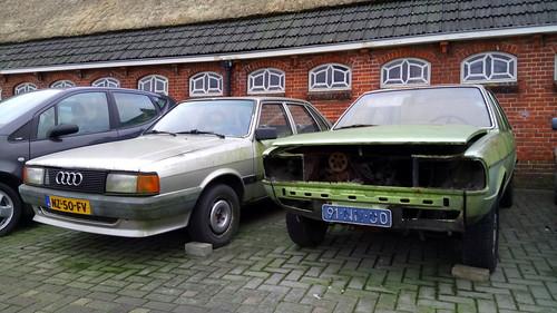 1976 Audi 80 LS Automatic + 1986 Audi 80 CC Turbo Diesel