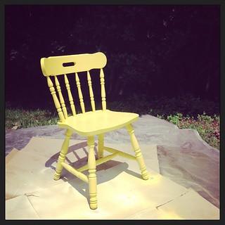 """Yellow Chair"" #armedwithaspraypaintcan"