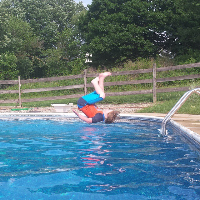 Now that's cooling off #pool #flip