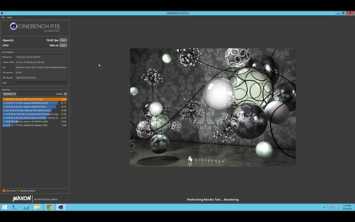 g2.2xlarge: Cinebench test