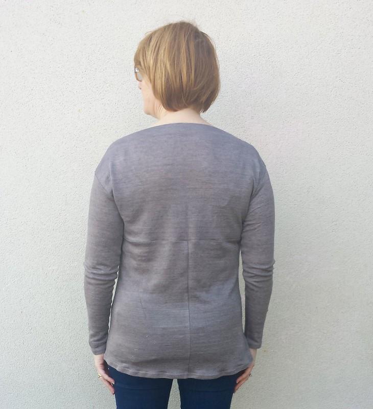 Style Arc Melinda tunic in knit from Darn Cheap Fabrics - not very wearable muslin