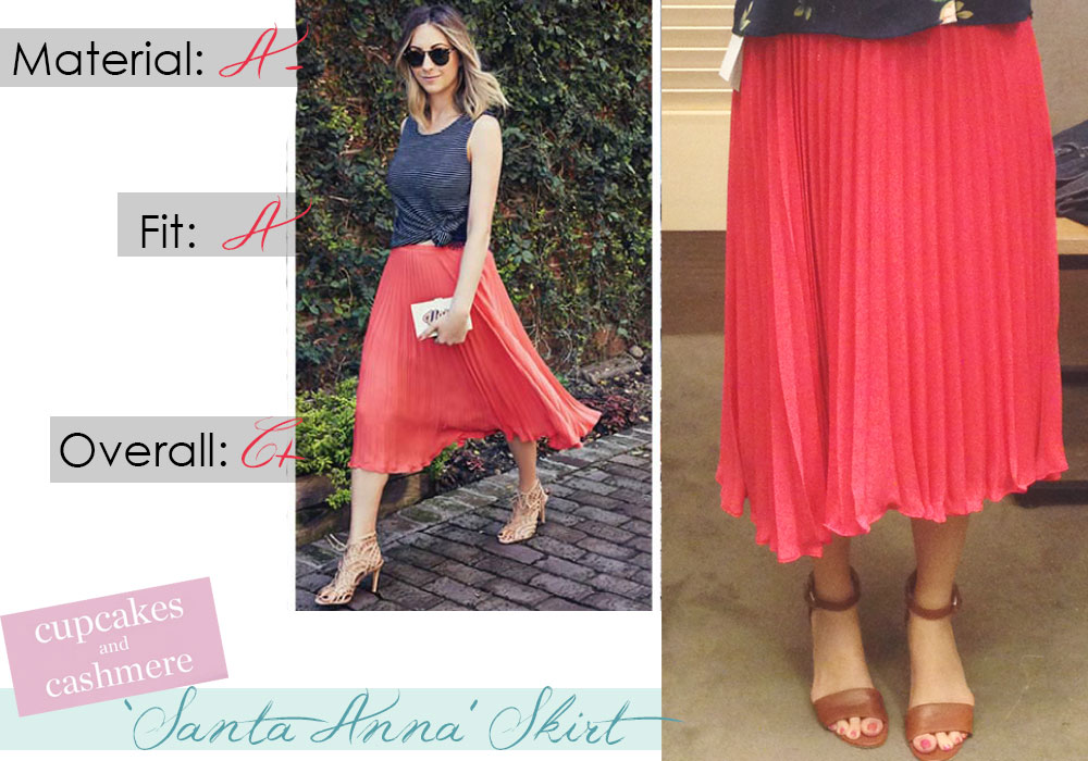 Santa Anna skirt review from Cupcakes and Cashmere summer 2015 clothing brand